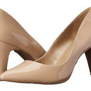 BANDOLINO Light Beige Patent Heels 9.5